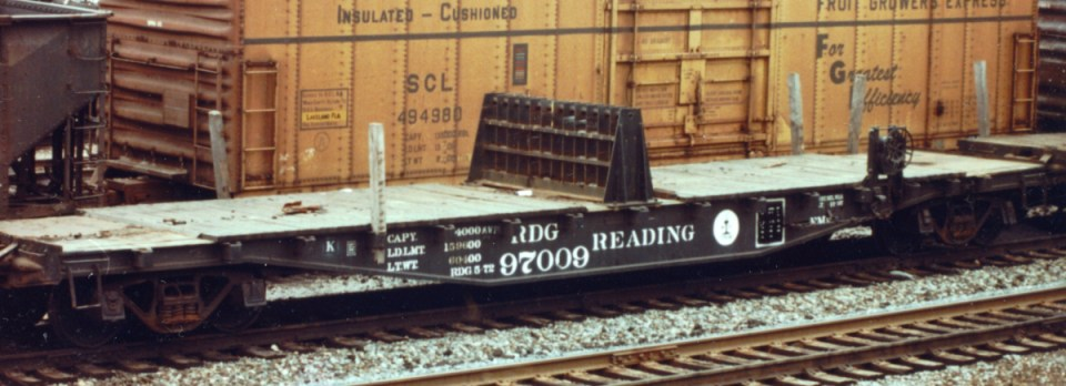 Reading 97009 Rail Roller Stand Car.  CT Bossler photo, collection of John Caples.