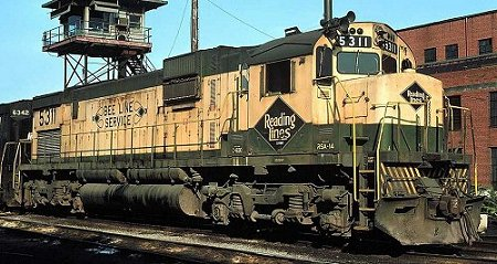 The last Reading Alco Century 630 was numbered #5311, and had several spotting features that differed from the earlier units.