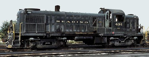 Late in its career, Reading RS-3 #486 rests in the yard at Pottsville, PA.  Photo courtesy Kim Piersol.