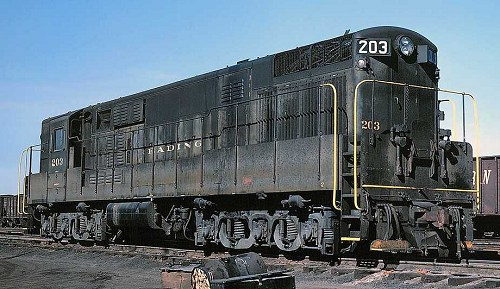 Reading Trainmaster #203 was originally locomotive #808.  It was renumbered in 1967.