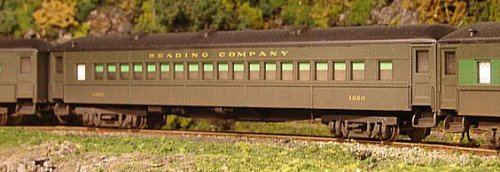 A Reading Baggage Car - John W. Hall Collection.